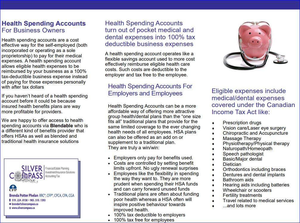 Making health expenses a business expense